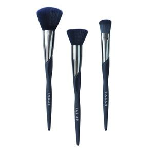 Midnight Pro Trio Make Up Brushes